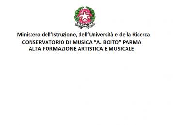 """Conservatorio di Musica """"A. Boito"""" Parma"""