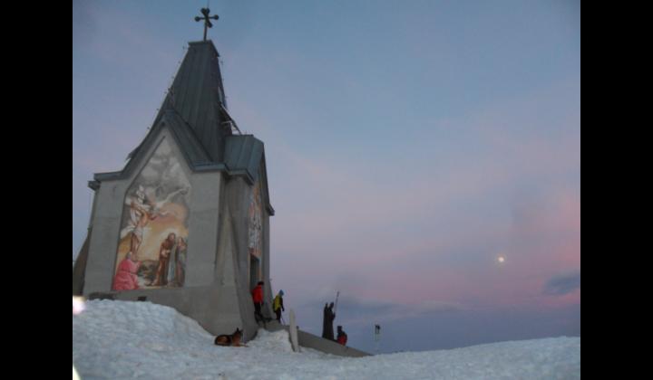La statua di Papa Paolo VI sul Monte Guglielmo