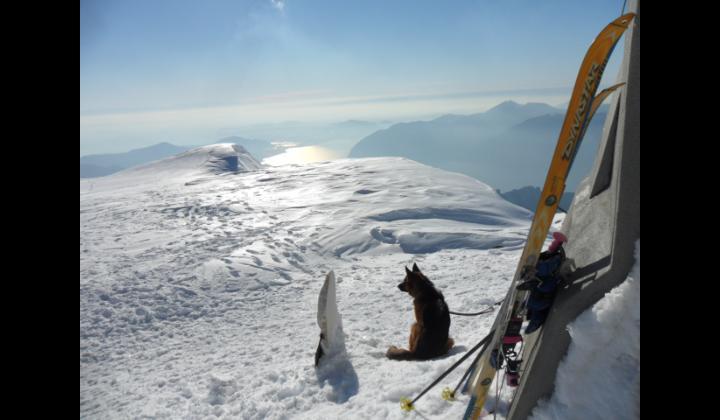 Vista dal lago d'Iseo dal Monte Guglielmo mt. 1949