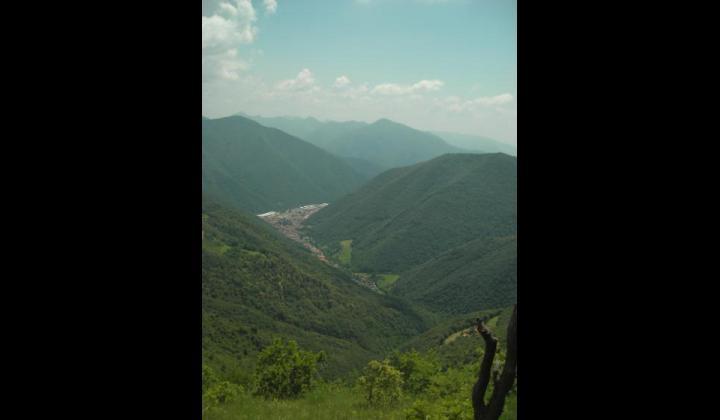 Gardone Val Trompia visto dalla Punta Almana