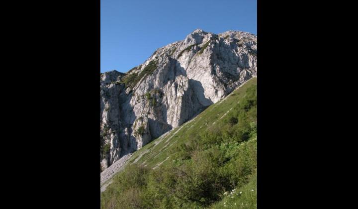 Il Dosso Alto presso il Monte Maniva
