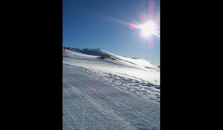 Piste da sci salendo verso il Monte Dasdana