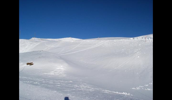 La seggiovia e le piste da sci sul Monte Dasdana