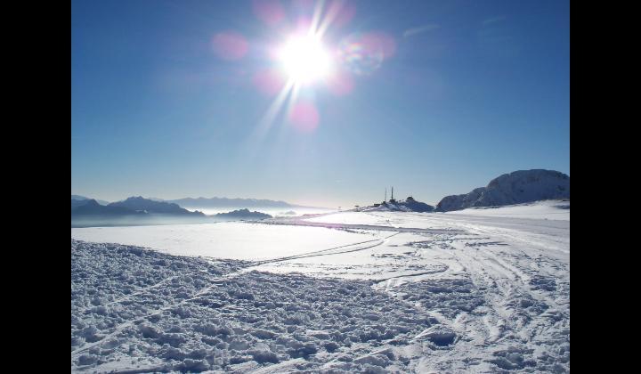 Le piste da sci del Passo Maniva viste dal Dasdana